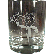 Vintage Advertising Glass - Reddy Kilowatt Highball