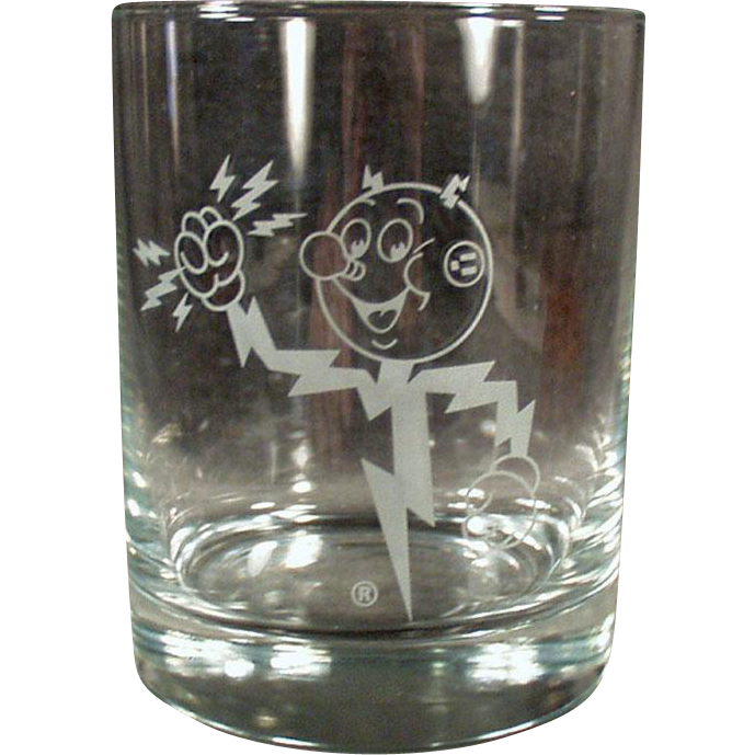 Vintage Advertising Glass - Reddy Kilowatt Highball