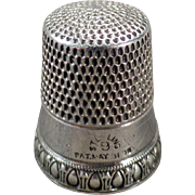 Vintage Sterling Thimble - Priscilla Pattern by Simons Brothers
