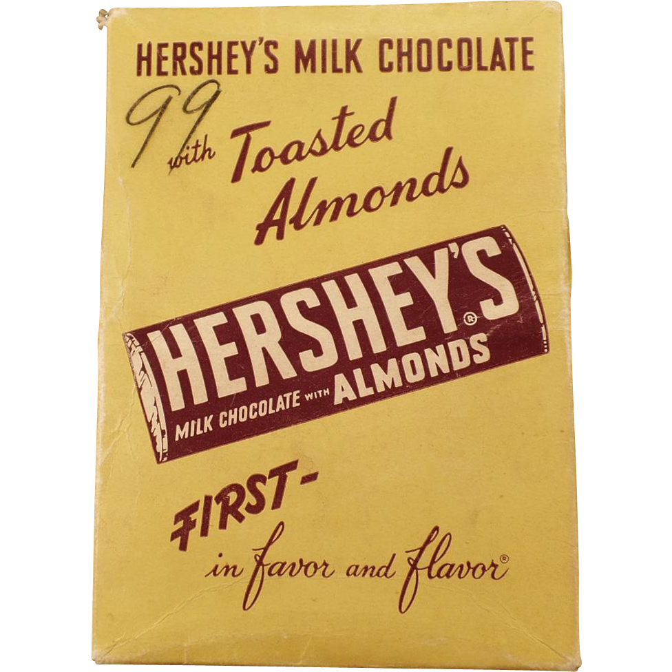 Vintage Hershey's Candy Box - Milk Chocolate with Almonds