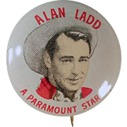 Vintage Pinback Button - Quaker Cereals - Alan Ladd