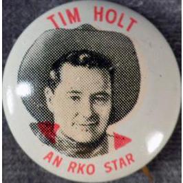 Vintage Pinback Button - Quaker Cereals - Tim Holt