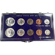 United States Mint Set - 1964 Philadelphia & Denver - 10 Coin Set