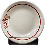 Vintage Reddy Kilowatt Restaurant China - Small Dessert Dish