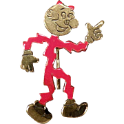 Vintage Reddy Kilowatt Lapel Stickpin