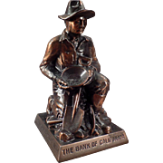 Vintage Bank -  Gold Prospector - Figural Coin Bank