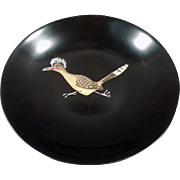 Vintage Couroc Bowl - Roadrunner Graphics - Mid-Century Decor