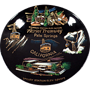 Vintage Souvenir Bowl - Palm Springs California Aerial Tramway - Laquerware