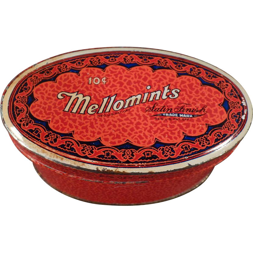 Vintage Mellomints Candy Tin - Brandle and Smith