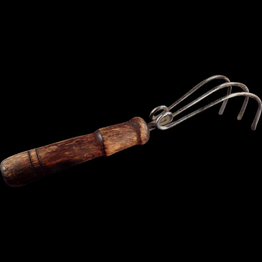 Vintage Gardening Tool - Three Prong Harrowing Claw