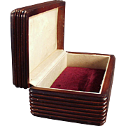 Vintage Dresser Box Made of Wood - Perfect for Men's Jewelry