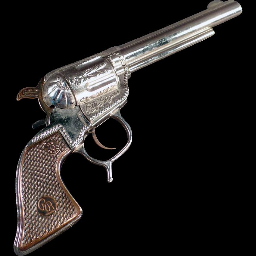 Vintage Roy Rogers Cap Pistol - Geo. Schmidt - 1950's