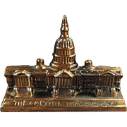 Vintage Figural Paperweight - The Capitol Building in Washington D.C.