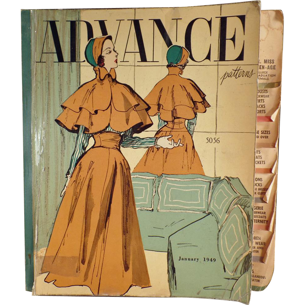 Vintage Pattern book - 1949 Advance Patterns Counter Catalog with 100's of Fashions