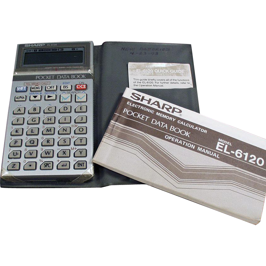 Old Pocket Data Book - Sharp Electronics EL6120