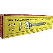 Vintage Crestoloy Tool Box - Adjustable Crescent Wrench Box