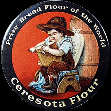 Vintage Celluloid Pocket Mirror - Ceresota Flour Advertising Mirror