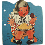 Child's Vintage Story Book - Little Jack Horner - 1942