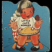 Child's Vintage Story Book - Little Jack Horner - 1942
