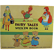Child's Vintage Stickers Book - Favorite Fairy Tales - Cinderella, Red Riding Hood and More