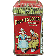 Vintage Droste's Cocoa Sample - Tiny Tin - Great Advertising Miniature