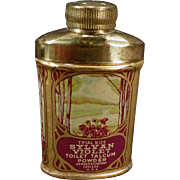 Vintage Sample Talc Tin - Sylvan Violet Toilet Talcum