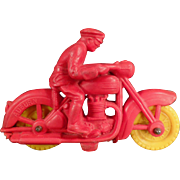 Vintage Auburn Rubber Motorcycle Toy