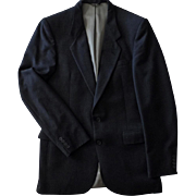 Vintage Nino Cerruti - Academy Award Clothes, Wool Suit Jacket  - Dark Charcoal Gray