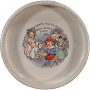 Vintage ABC Nursery Rhyme Baby Bowl - Tom the Piper's Son