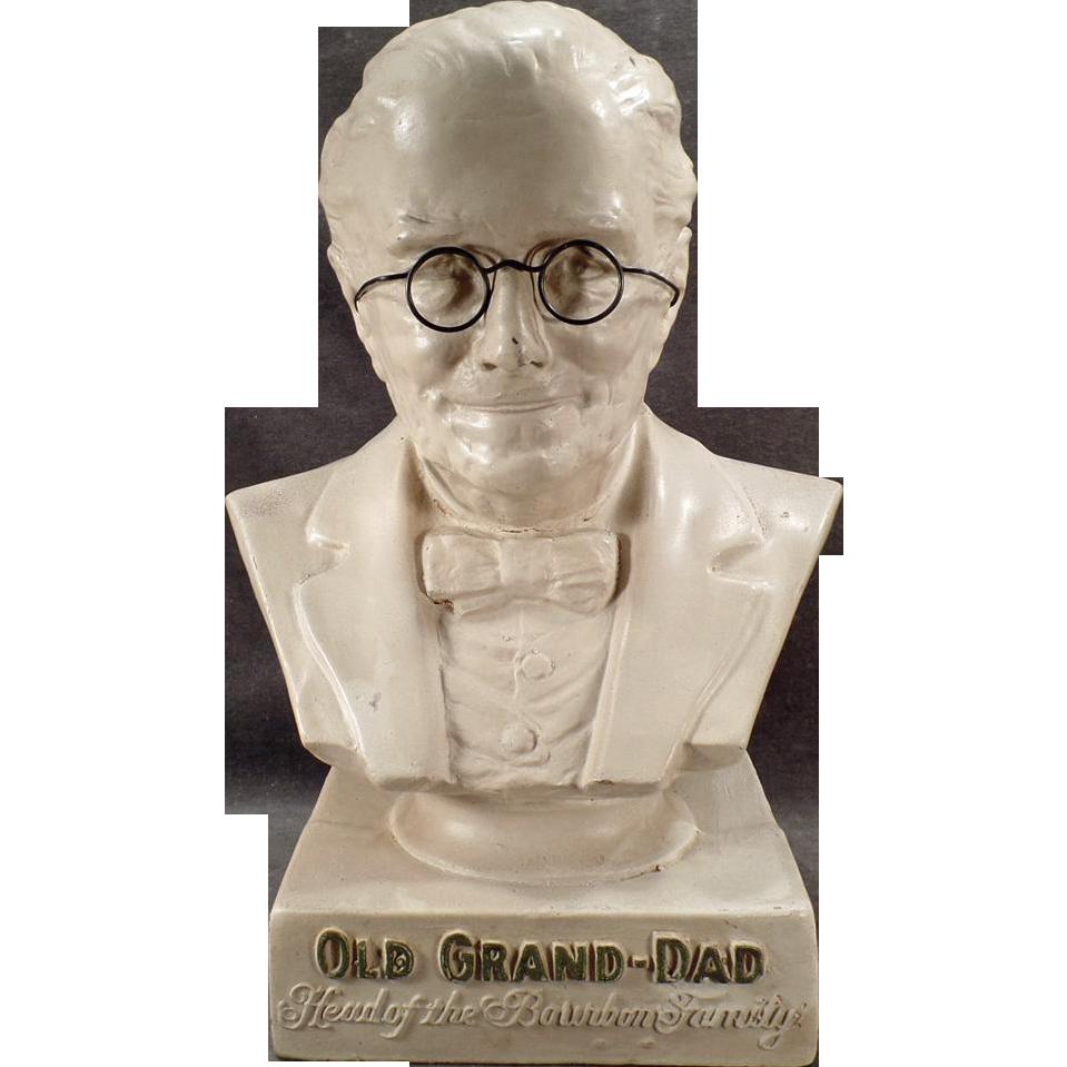 Vintage Whiskey Figural Bust - Old Grand Dad Back Bar Display