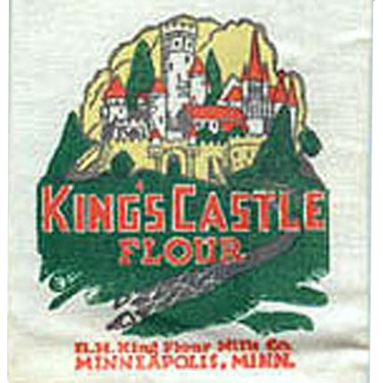 Vintage Sample Mailer - King's Castle Flour Sack Advertising