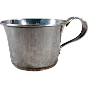 Vintage Sterling Silver Baby's Cup with Detailed Floral - No Monogram