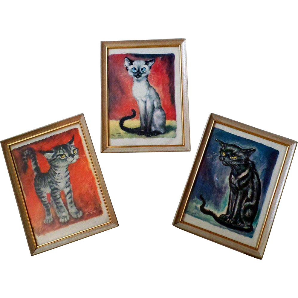 Vintage Gig Kitty Prints - Framed - Yard Boy / Ecstasy / The Growler