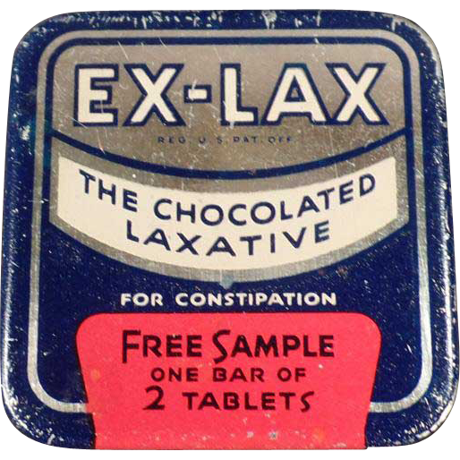 Vintage Ex-Lax S Tablet Sample Tin - Medical Sample Tin