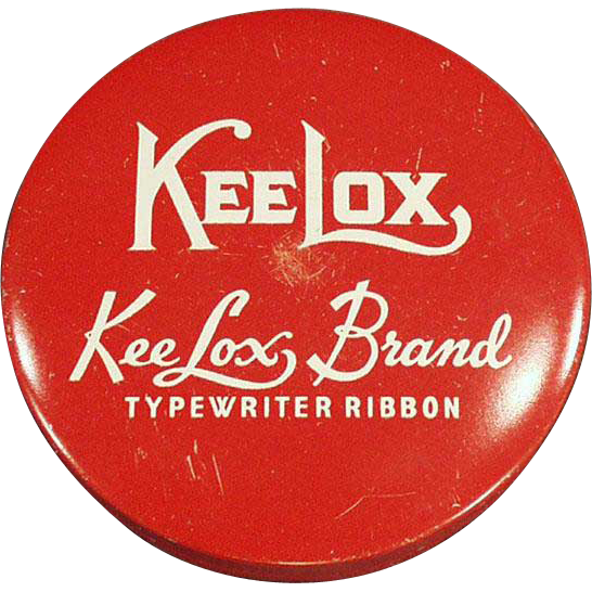 Vintage Typewriter Ribbon Tin - Red KeeLox