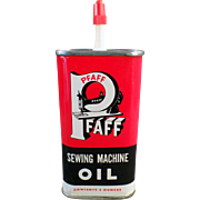 Vintage Pfaff Sewing Machine Oil Tin - Sharp Graphics