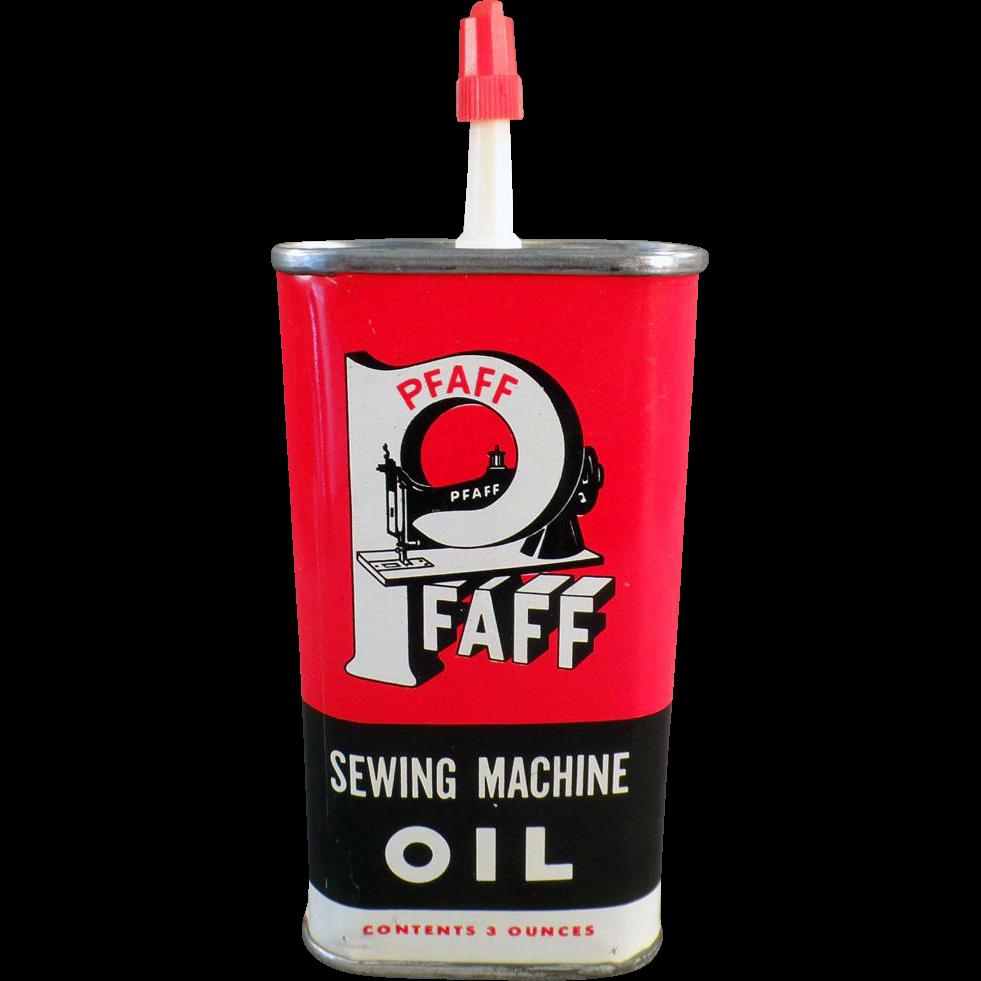 Vintage Pfaff Sewing Machine Oil Tin - Sharp Graphics