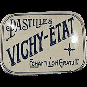 Vintage Vichy-Etat Pastilles Sample Tin