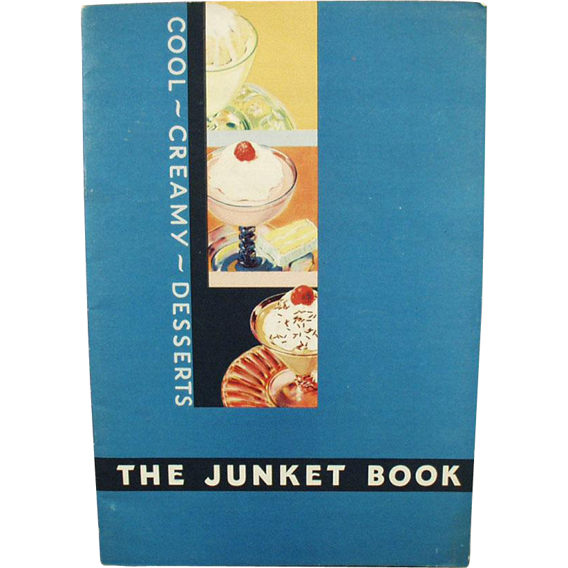 Vintage Junket Recipe Booklet - Cool Creamy Desserts