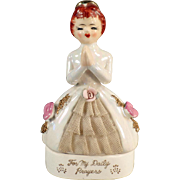 Vintage Porcelain Dresser Box for Rosary Beads - For My Daily Prayers