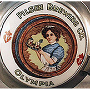 Vintage Beer Stein - Pilsen Brewing Co., Olympia - Chicago Brewery Advertising Stein