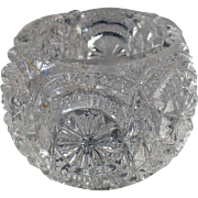 Vintage Glass Salt Dip - Individual Size - Pressed Glass