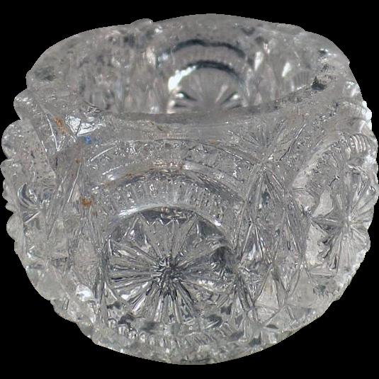 Vintage Glass Salt Dip - Individual Size - Pressed Glass