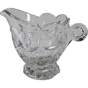 Vintage Heisey #1506 Provincial Pattern - Clear Cream Pitcher