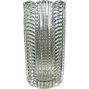 Vintage Heisey Vase - Ridgeleigh Pattern in Clear