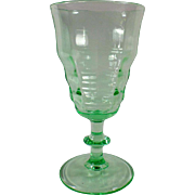 Vintage Soda Fountain Sundae Dish - Beautiful Green Stemmed Sundae
