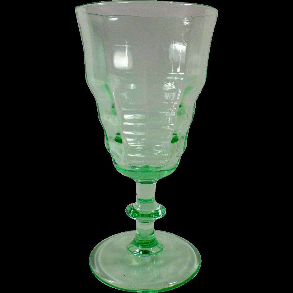Vintage Soda Fountain Sundae Dish - Beautiful Green Stemmed Sundae