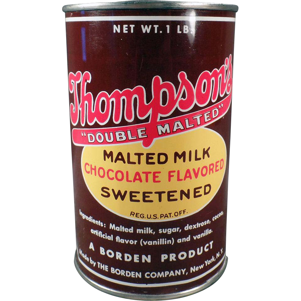 Vintage Thompson's Malted Milk Tin - A Borden Product