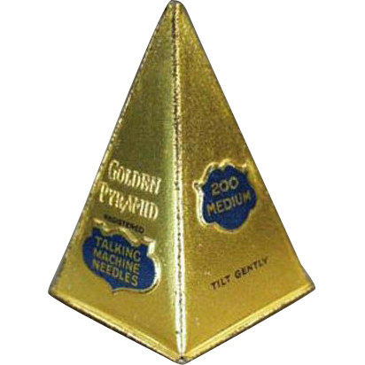 Vintage Phonograph Needle Tin - Golden Pyramid