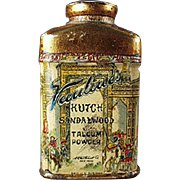 Vintage Sample Talc Tin - Vantine's Kutch Sandalwood Talc Miniature Tin